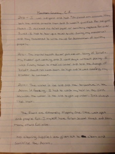 Written testimony of Rosalind R. of her experiences whilst an inmate at Houston County Jail, Dothan AL