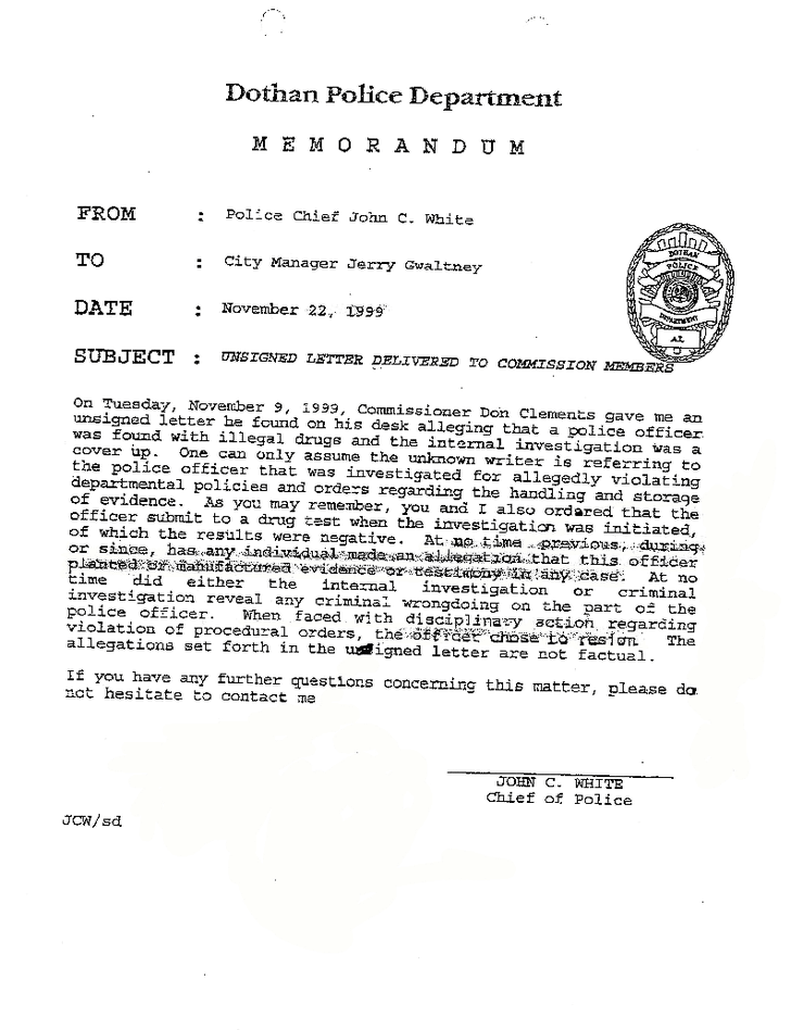 dothan-police-chief-john-white-s-letter-to-city-manager-exhibit-10-1