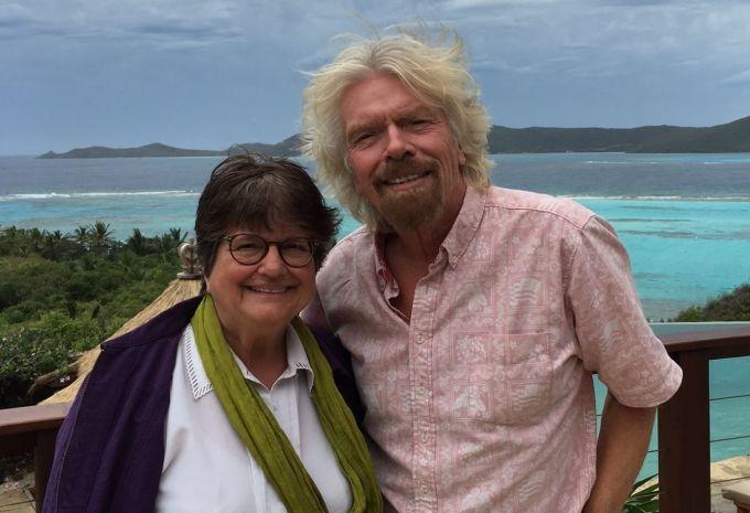 Richard Branson and Sister Helen